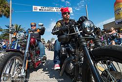 Cruising Main Street during Daytona Beach Bike Week, FL., USA. March 9, 2014.  Photography ©2014 Michael Lichter.