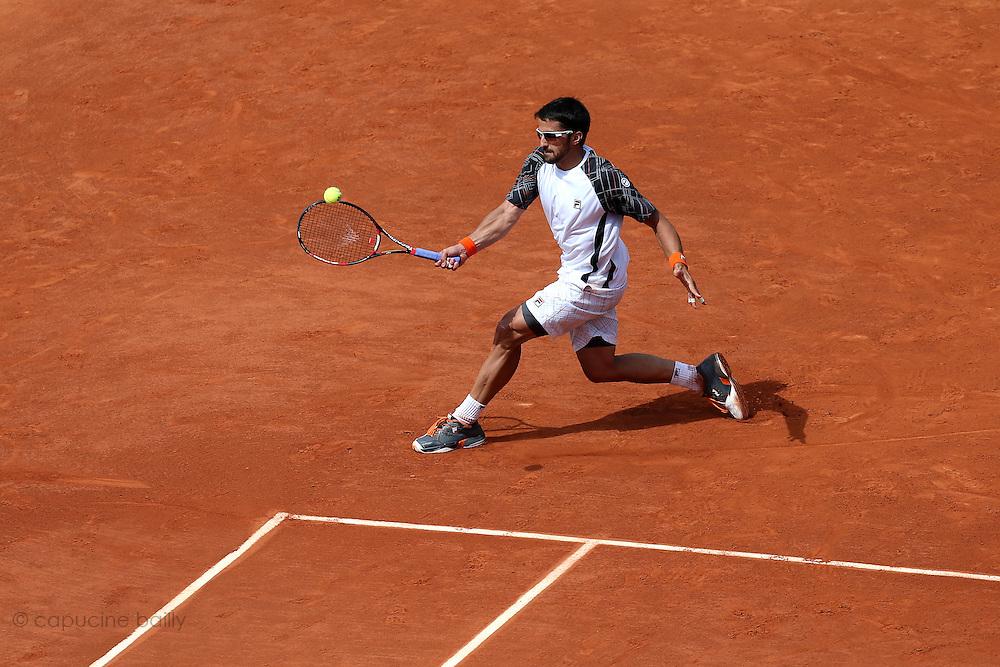 Roland Garros. Paris, France. June 2nd 2012.Serbian player Janko TIPSAREVIC against Julien BENNETEAU.