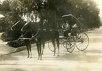 1910 Carriage on Hollywood Blvd. and Vine St.