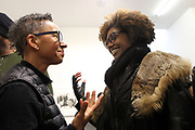 New York, NY-Jan. 11: (L-R) Photographers Lola Flash and Latoya Ruby Frazier attend the Gordon Parks: I AM YOU Opening Reception presented by the Gordon Parks Foundation  held at the Jack Shanmain Gallery on January 11, 2018 in New York City.  (Photo by Terrence Jennings/terrencejennings.com)