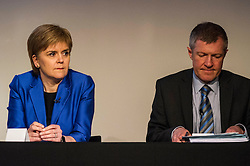 Pictured: Nicola Sturgeon and Willie Rennie<br /> <br /> Party leaders Nicola Sturgeon, Kezia Dugdale, Ruth Davidson, Willie Rennie and Patrick Harvie faced questions from the public at an LGBTI election hustings event arranged by Stonewall Scotland, LGBT youth Scotland, Equaity Network and The Scottish Equality Network at the Royal College of Surgeons of Edinburgh. Edinburgh. 31 March 2016<br /> <br /> Ger Harley | Edinburghelitemedia.co.uk