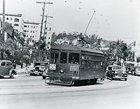 1934 Streetcar in the Cahuenga Pass