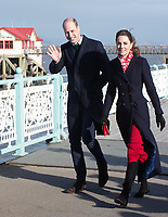 Duke and  Duchess of Cambridge, visit RNLI lifeboat on Mubbles Pier Wales. 04.02.19 photo by Terry Scott
