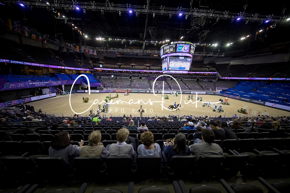 Overview Arena<br /> Training session<br /> Longines FEI World Cup Jumping Final, Omaha 2017 <br /> © Hippo Foto - Jon Stroud<br /> 29/03/2017