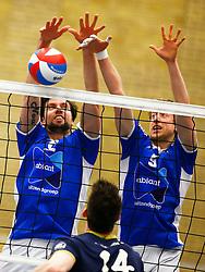 20150325 NED: Eredivisie Inter Rijswijk - Abiant Lycurgus, Rijswijk<br />Dennis van der Veen (6) of Abiant Lycurgus, Chris Voth (9) of Abiant Lycurgus<br />©2015-FotoHoogendoorn.nl / Pim Waslander