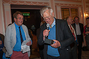 JEREMY LEWIS; RICHARD INGRAMS, The Oldie - 20th anniversary party. Simpson's-in-the-Strand, 100 Strand, London, WC2. 19 July 2012