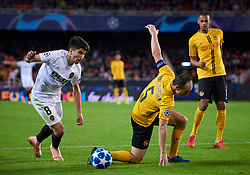 November 7, 2018 - Valencia, U.S. - VALENCIA,  - NOVEMBER 07: Steve von Ballmoos , defender of BSC Young Boys competes for the ball with Carlos Soler, midfielder of Valencia CF during the UEFA Champions League group stage H football match between Valencia CF and BSC Young Boys at Mestalla Stadium on November 07, 2018, in Valencia, Spain. (Photo by Carlos Sanchez Martinez/Icon Sportswire) (Credit Image: © Carlos Sanchez Martinez/Icon SMI via ZUMA Press)