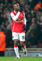 Photo: Tom Dulat/Sportsbeat Images.<br /> <br /> Arsenal v Chelsea. The FA Barclays Premiership. 16/12/2007.<br /> <br /> Arsenal's William Gallas celebrates his goal. Arsenal leads 1-0