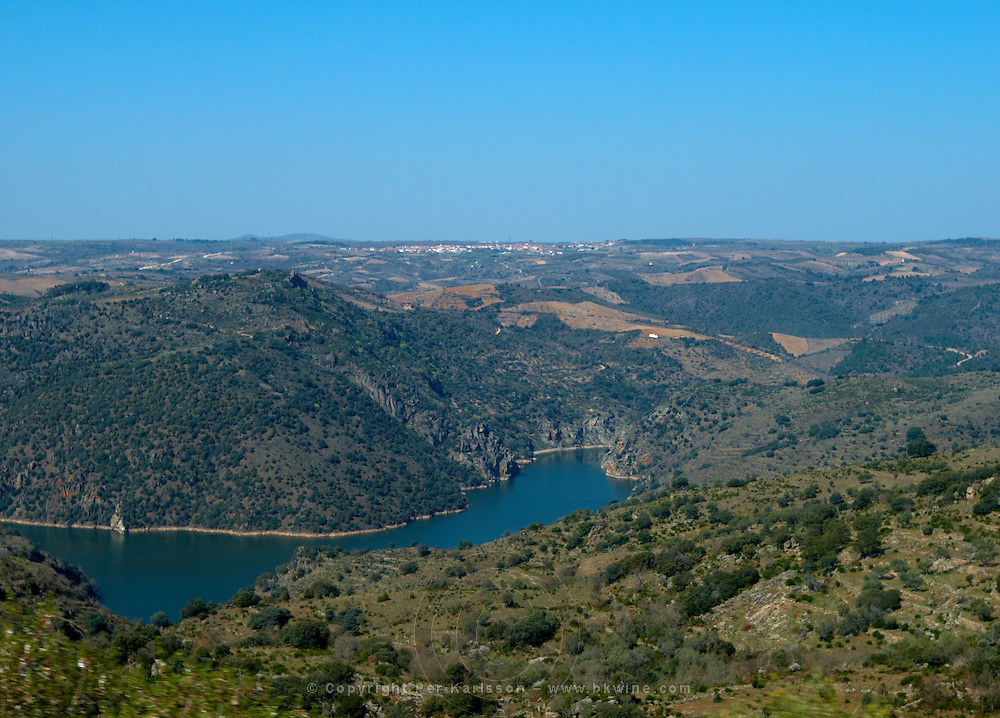 View over Duero , Fermoselle spain castile and leon