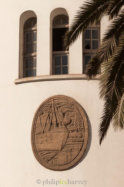 Bas-relief outside post office in Casablanca, Morocco