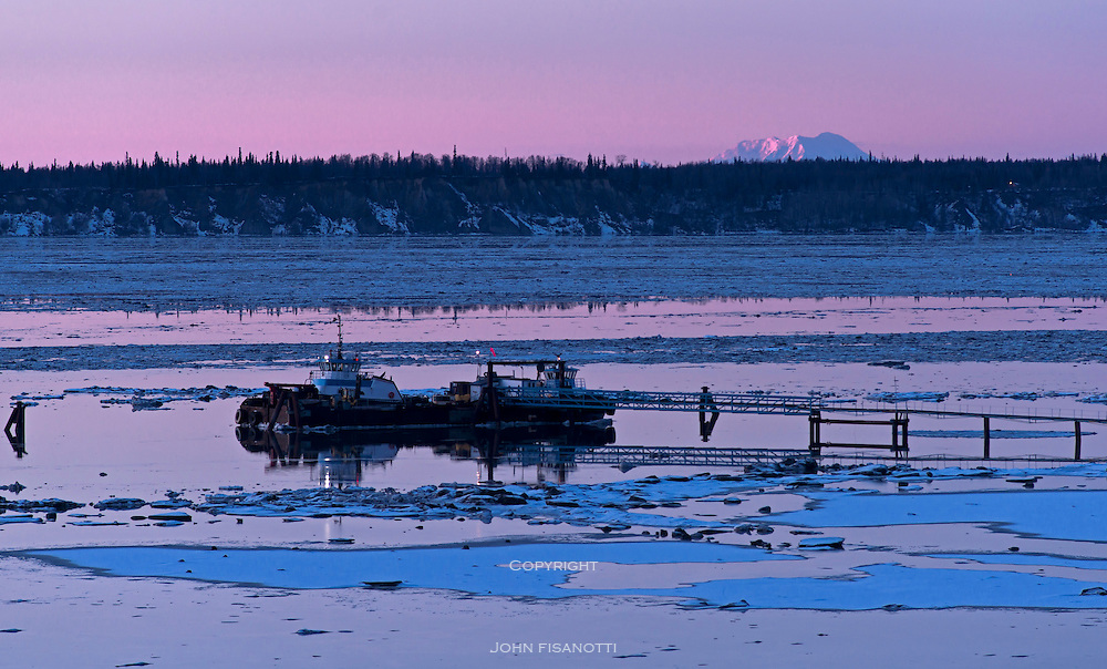 Knik Arm at Sunset, from Resolution Park, Anchorage, Alaska