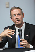 Former Maryland Governor and Democratic presidential candidate Martin O'Malley during a discussion on gun violence at Mt. Moriah Baptist Church October 22, 2015 in North Charleston, South Carolina.