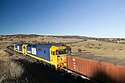 Speeding Freight Train, Rural NSW, Australia