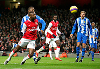 Photo: Tom Dulat/Sportsbeat Images.<br /> <br /> Arsenal v Wigan Athletic. The FA Barclays Premiership. 24/11/2007.<br /> <br /> Arsenal's William Gallas opens the scoring. Arsenal leads 1-0
