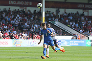 Edoardo Vergani of Italy (9) during the UEFA European Under 17 Championship 2018 match between England and Italy at the Banks's Stadium, Walsall, England on 7 May 2018. Picture by Mick Haynes.