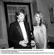 Viscount Althorp & Katy Braine.  Gala Evening fashion show. Cafe Royal. London. 12 November 1986. Film 86943f34<br />© Copyright Photograph by Dafydd Jones  66 Stockwell Park Rd. London SW9 0DA Tel 0171 733 0108