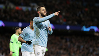 Football - 2018 / 2019 UEFA Champions League - Round of Sixteen, Second Leg: Manchester City (3) FC Schalke 04 (2)<br /> <br /> Bernardo Silva of Manchester City celebrates at The Etihad.<br /> <br /> COLORSPORT/LYNNE CAMERON