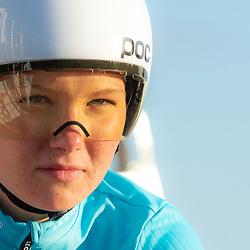 11-03-2021: Wielrennen: Healthy Ageing Tour: Lauwersoog. <br />Maike van der Duin
