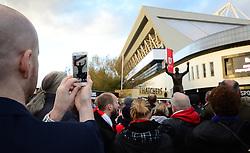 John Atyeo Statue unveiling at Ashton Gate Stadium - Mandatory by-line: Dougie Allward/JMP - 05/11/2016 - FOOTBALL - Ashton Gate - Bristol, England - Bristol City v Brighton and Hove Albion - Sky Bet Championship