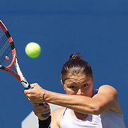Dinara Safina, Russia, in action against Olivia Rogowska, Australia, during the first round match match in the US Open Tennis Tournament at Flushing Meadows, New York, USA, on Tuesday, September 1, 2009. Photo Tim Clayton.