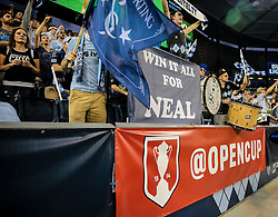 September 20, 2017 - Kansas City, KS, USA - Kansas City, KS - Wednesday September 20, 2017: Sporting KC supporters during the 2017 U.S. Open Cup Final Championship game between Sporting Kansas City and the New York Red Bulls at Children's Mercy Park. (Credit Image: © John Dorton/ISIPhotos via ZUMA Wire)
