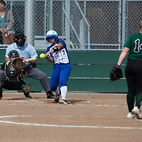 (Photograph by Bill Gerth 4/18/17) Los Altos vs Homestead in a SCVAL girls varsity softball game at Homestead Softball, Cupertino CA on 4/18/17