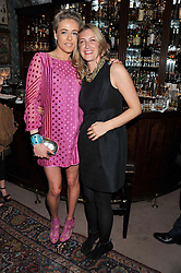 Left to right, LADY ALEXANDRA SPENCER-CHURCHILL and GEORGINA COHEN at a dinner hosted by Edward Taylor and Alexandra Meyers in association with Johnnie Walker Blue Label held at Mark's Club, 46 Charles Street, London W1 on 26th April 2012.