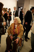 GILLIAN AYRES, Opening reception of the Jerwood Gallery. The Stade, Hastings. 16 March 2012.
