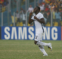 Photo: Steve Bond/Richard Lane Photography.<br /> Ghana v Morocco. Africa Cup of Nations. 28/01/2008. Sulley Muntari celebrates his goal. Ghana's No2