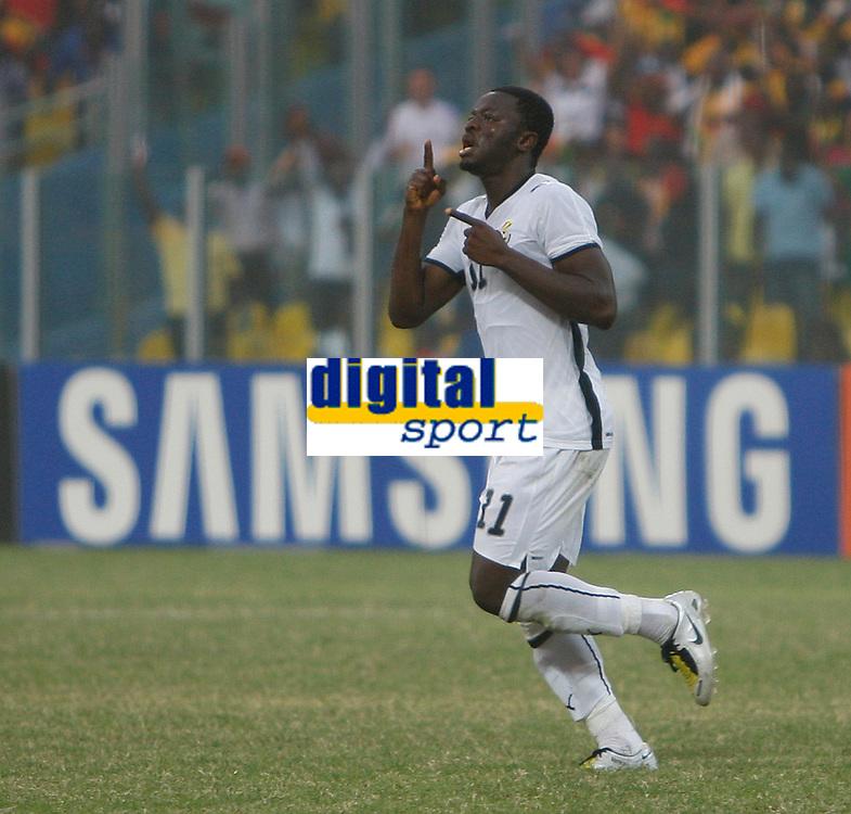 Photo: Steve Bond/Richard Lane Photography.<br /> Ghana v Morocco. Africa Cup of Nations. 28/01/2008. Sulley Muntari celebrates his goal. Ghana's No2