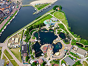 Nederland, Gelderland, Harderwijk, 21–06-2020; Waterfront en Waterstadhaven aan het Wolderwijd, centrum van Harderwijk met Dolfinarium en jachthaven De Knar.<br /> Waterfronts Waterstadhaven, center of Harderwijk with Dolfinarium and marina De Knar.<br /> <br /> luchtfoto (toeslag op standaard tarieven);<br /> aerial photo (additional fee required)<br /> copyright © 2020 foto/photo Siebe Swart