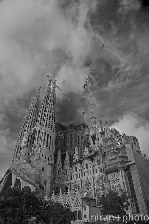 Sagrada Familia from the South West, Barcelona