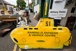 Entrance to Randall's antiques centre at Barras Market in Gallowgate Glasgow, United Kingdom