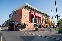 Football - 2019 / 2020 Premier League - Liverpool vs Crystal Palace<br /> <br /> General views of the stadium without the usual fan base at Anfield.<br /> <br /> <br /> COLORSPORT/TERRY DONNELLY