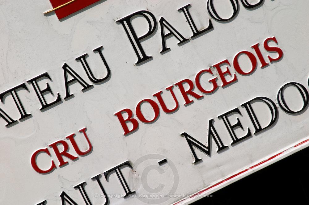 Cru Bourgeois. Chateau Paloumey, Haut Medoc, Bordeaux, France.