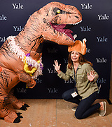 Photo by Mara Lavitt<br /> October 11, 2017<br /> The Founders Day photo booth at the Sterling Library at Yale University.