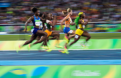 13.08.2016, Olympic Stadium, Rio de Janeiro, BRA, Rio 2016, Olympische Sommerspiele, 100m Semifinale, Damen, im Bild Übersicht // Overview during the Ladys 100m Semifinal of the Rio 2016 Olympic Summer Games at the Olympic Stadium in Rio de Janeiro, Brazil on 2016/08/13. EXPA Pictures © 2016, PhotoCredit: EXPA/ Johann Groder