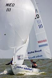 08_01036 © Sander van der Borch. Medemblik - The Netherlands,  May 21th 2008 . First day of the Delta Lloyd Regatta 2008.