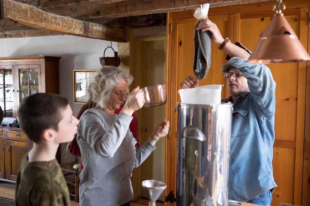 Making maple syrup at Schooley's Mountain.