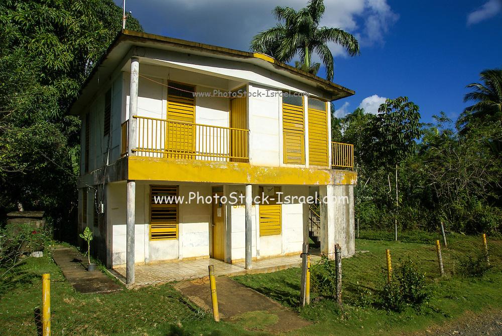 Cuba, Rio Duaba near Baracoa and El Yunque mountain the Alejandro de Humboldt national park
