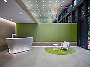 Interior view of Le Riviera building in Hong Kong decorated by La Granja Design. Photo by Victor Fraile / illume visuals