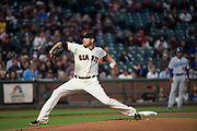 San Francisco Giants starting pitcher Matt Moore (45) pitches against the Los Angeles Dodgers at AT&T Park in San Francisco, California, on September 13, 2017. (Stan Olszewski/Special to S.F. Examiner)