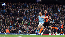 Manchester City's Gabriel Jesus scores his side's sixth goal of game to complete his hat-trick during the UEFA Champions League match at the Etihad Stadium, Manchester.