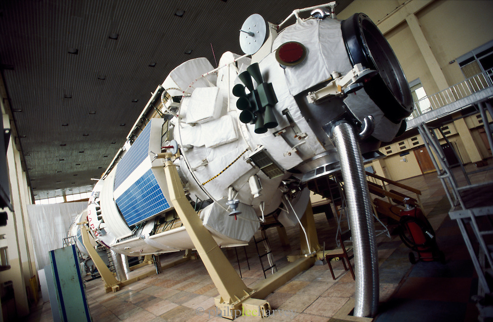 Mir Module, Star City Space Centre, Moscow, Russia.