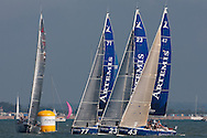 The Artemis Challenge at Aberdeen Asset Management Cowes Week 2014. <br /> Starting line up at the Artemis Challenge<br /> FREE for editorial use. Credit: Lloyd Images