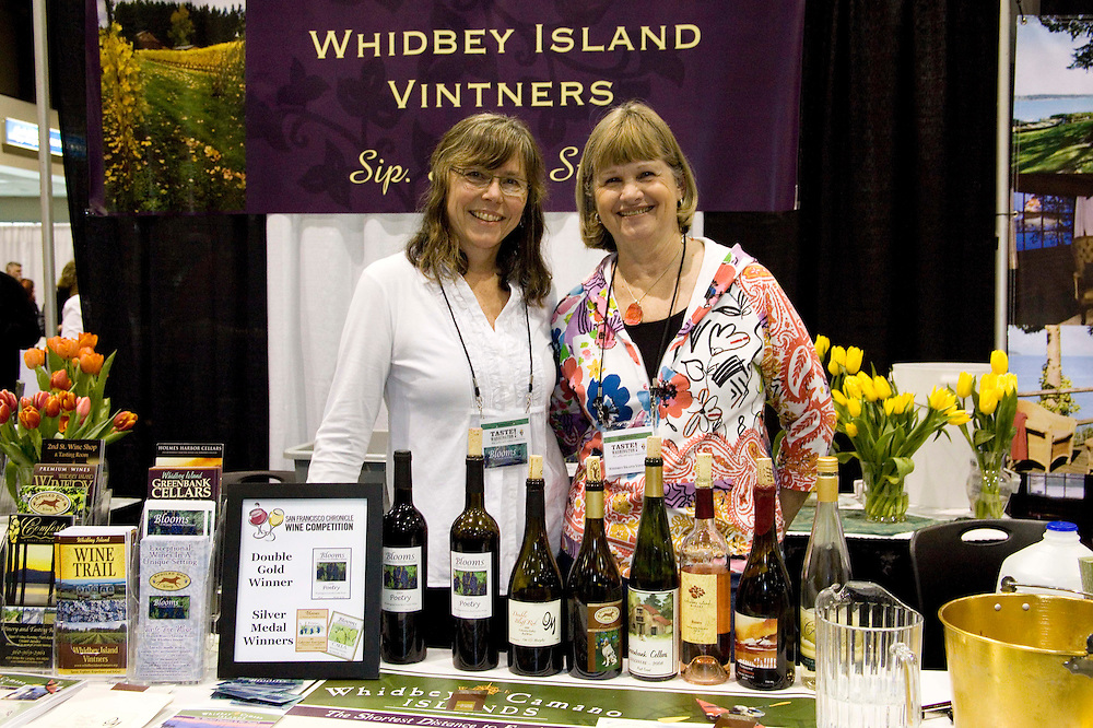 The Washtington State Wine commission organized the Taste Washington  Grand Tasting  event at the Seattle Qwest Event Center on 3/27/11. Whidbey Island Wine growers.