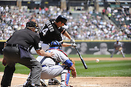 CHICAGO - MAY 22:  Paul Konerko #14 of the Chicago White Sox bats against the Los Angeles Dodgers on May 22, 2011 at U.S. Cellular Field in Chicago, Illinois.  The White Sox defeated the Dodgers 8-3.  (Photo by Ron Vesely)  Subject:   Paul Konerko