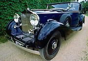 Vintage Rolls Royce car after restoration at Ashton Keynes Vintage Restorations in Wiltshire, UK