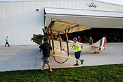 Pushing out the Curtiss JN-4D Jenny for some fun at the 2017 Hood River Fly-In.