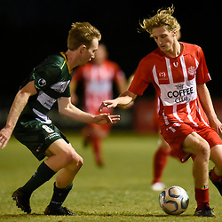 BRISBANE, AUSTRALIA - MAY 26:  during the NPL Senior Men's Round 15 match between Olympic FC and Western Pride on May 26, 2018 in Brisbane, Australia. (Photo by Olympic FC / Patrick Kearney)